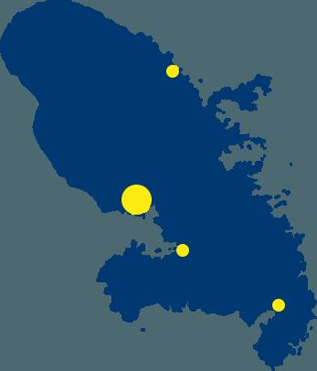 Carte de la Martinique Assurance Outremer