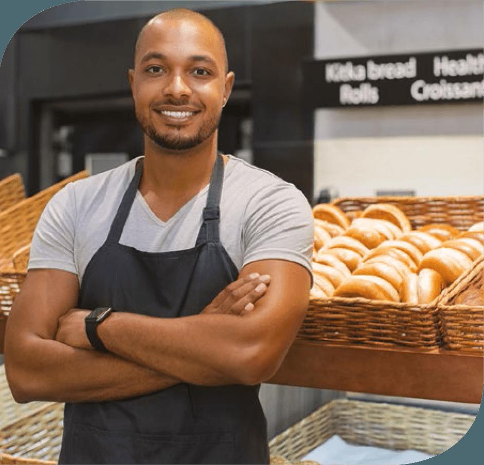 Boulanger ayant souscrit à la multi risque professionnelle